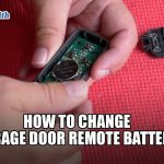 Liftmaster: How to Change Garage Door Remote Battery